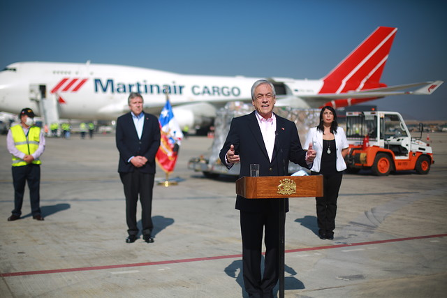 Piñera anuncia llegada de 72 nuevos ventiladores mecánicos y reitera plan de