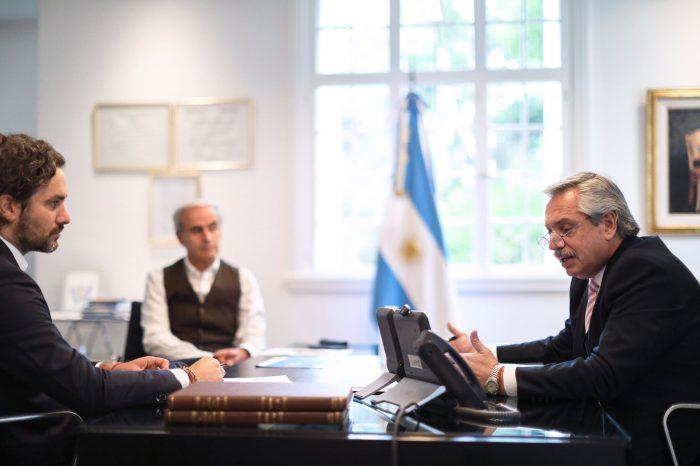 Presidente de Argentina en conversación telefónica con Piñera: