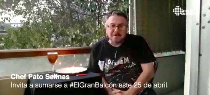 ¿Y si nos juntamos en el Balcón?: iniciativa invita a seguir haciendo comunidad en cuarentena
