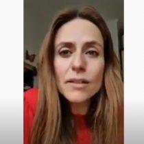 """""""Quédate en casa"""": actriz de 'La Casa de Papel' aconsejó a los ariqueños a cuidarse del coronavirus"""