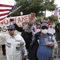 Múltiples protestas alentadas por Trump reclaman el fin del confinamiento en EE. UU.