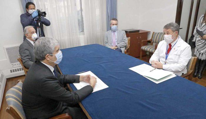 Suscriben acuerdo para instalar hospital de campaña en campus universitario de Concepción