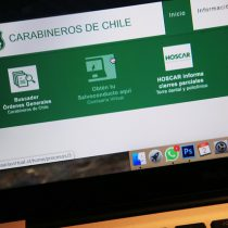 Carabineros reportó la caída temporal de la plataforma