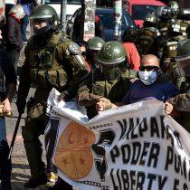 Registran incidentes tras manifestación por el Día del Trabajador en Valparaíso