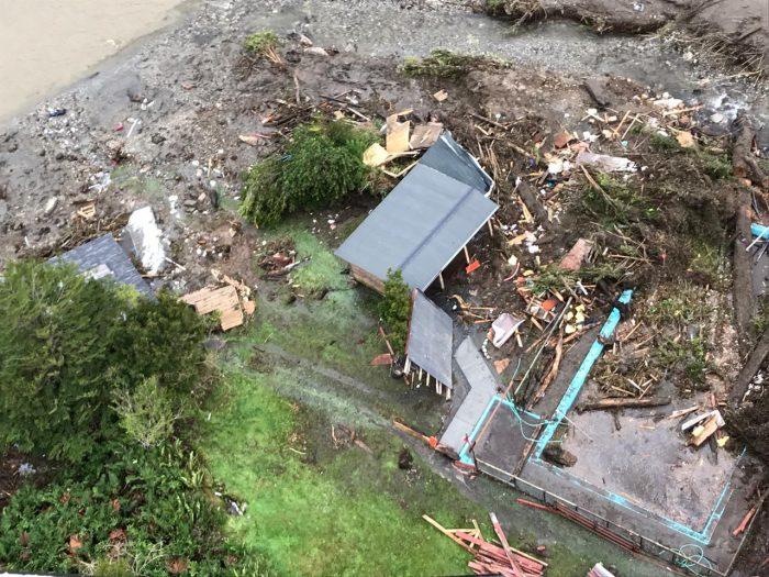 Un desaparecido y familias aisladas: fuertes lluvias durante el fin de semana se registraron en Los Lagos y Aysén