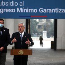 Presidente Piñera anunció el pago del Subsidio al Ingreso Mínimo Garantizado para trabajadores dependientes que pertenezcan al 90% de los hogares más vulnerables