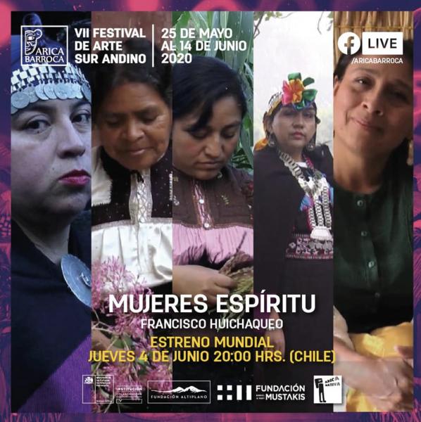 """Exhibición de película """"Mujeres Espíritu"""" (2020) de Francisco Huichaqueo"""