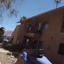 Policía abate a sujeto que lo amenazó con sable en Estados Unidos