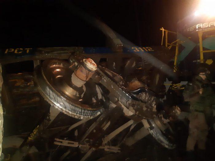 Tren se descarriló en la comuna de Ercilla e intendente asegura que fue un ataque terrorista
