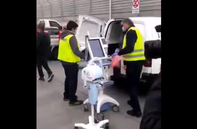 Trabajadores del Aeropuerto denuncian que ventiladores mecánicos los sacaron desde una camioneta solo para hacer