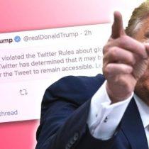 """Muerte de George Floyd: Twitter oculta un tuit de Trump por """"glorificar la violencia"""""""
