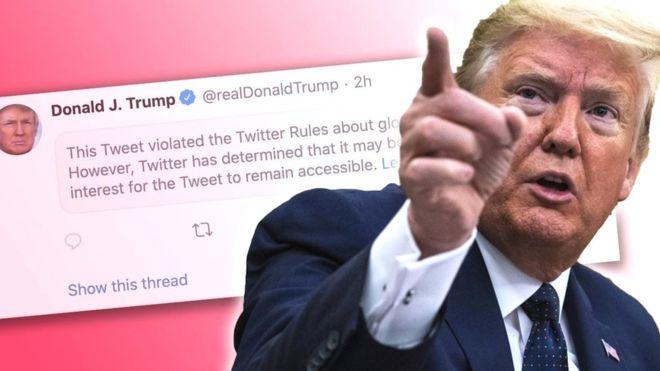 Muerte de George Floyd: Twitter oculta un tuit de Trump por