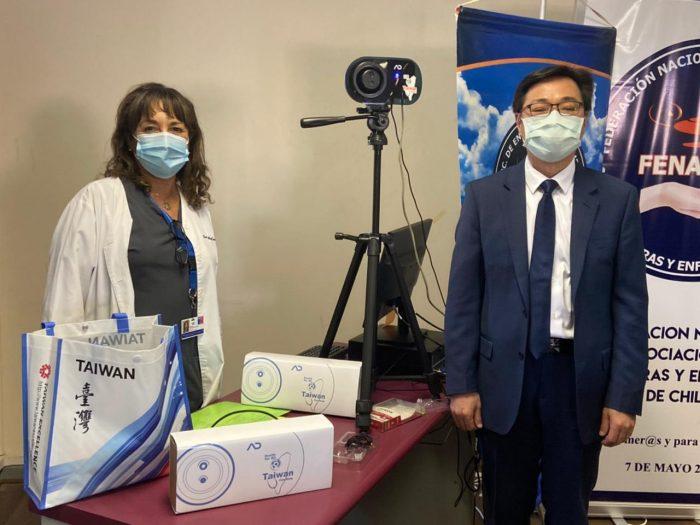 Gobierno de Taiwán entrega a la Federación de Enfermeros de Chile insumos médicos para combatir la pandemia del Covid-19