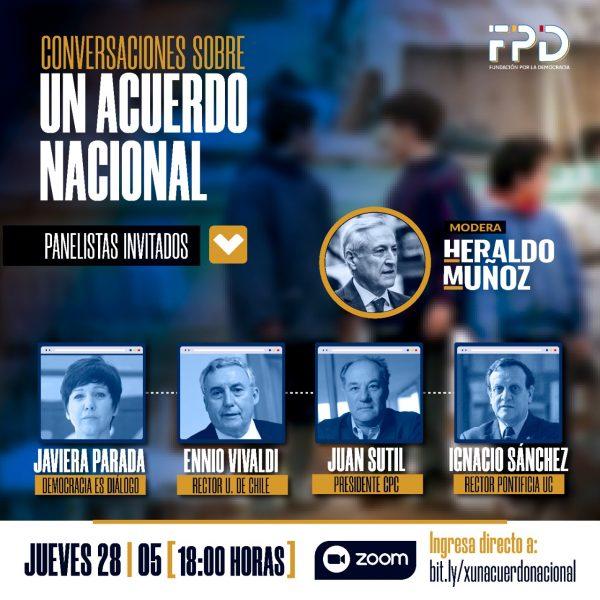 Heraldo Muñoz moderará diálogo con academia, empresariado y mundo social con miras a avanzar a un gran acuerdo nacional frente al Covid-19