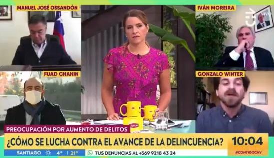 Pataleta al aire: senador Moreira se molestó con producción de matinal televisivo por invitación al diputado Winter