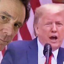 Fiel a su estilo: Jim Carrey tose imagen de Donald Trump en pleno desarrollo de discurso