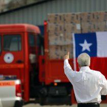 """""""Alimentos para Chile"""": Piñera promete que antes del 21 de junio estarán las 2,5 millones de cajas repartidas"""