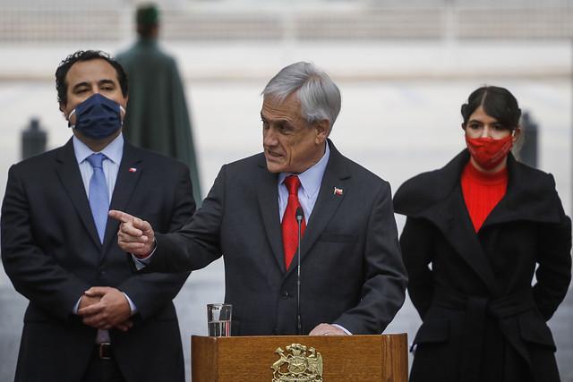 Piñera destaca baja de la victimización en encuesta ENUSC y Chile 21 pide al Gobierno no cantar victoria