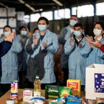 Operación cajas: Piñera visita centro de distribución de programa