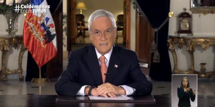 Piñera anuncia nuevas medidas en el momento más complejo de la crisis: canastas de comidas a familias vulnerables y apoyo a Mypimes no bancarizadas
