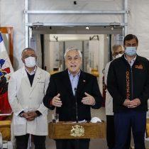 Piñera anuncia cinco hospitales modulares para junio y reconoce que el sistema de salud está