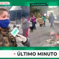 Se suman a El Bosque: vecinos de La Pintana salen a protestar ante falta de alimentos y alta cesantía