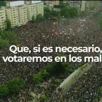 """Figuras de la oposición lanzan video en defensa del proceso constituyente: """"El plebiscito va, si es necesario votaremos en los malls"""""""