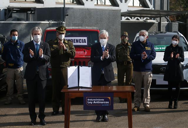 Presidente Piñera anunció proyecto de ley que endurece sanciones contra quienes cometan delitos vinculados al narcotráfico