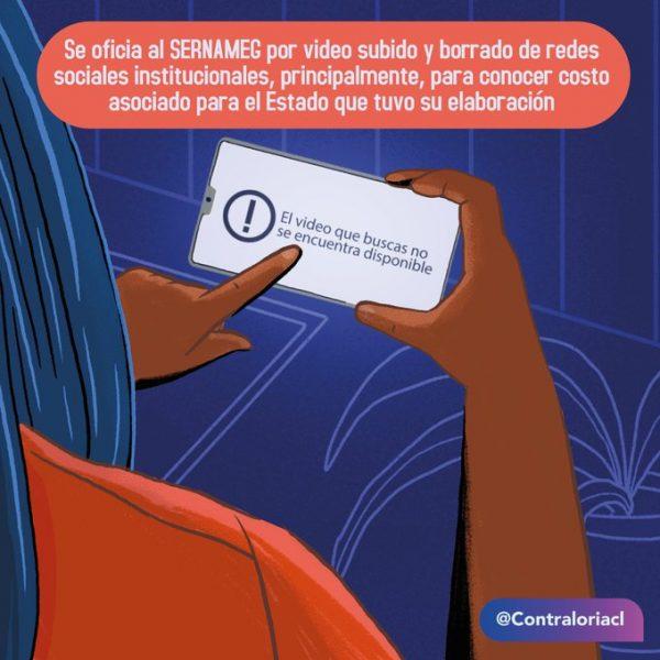 Contraloría oficia al SernamEG por polémica campaña difundida en redes sociales
