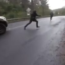Carabineros dio a conocer video de tiroteo con desconocidos en La Araucanía