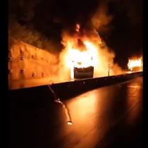 Se registra ataque incendiario en viaducto de Malleco a las afueras de la comuna de Collipulli