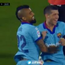Arturo Vidal abrió la cuenta como titular en el Barcelona en el regreso de la Liga Española