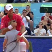 El sueño del pibe: niño le ganó punto a Djokovic en torneo de exhibición que marcó el retorno paulatino del tenis