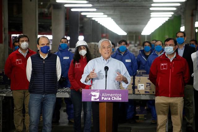 Presidente Piñera confirma que han entregado el 25% de las canastas comprometidas