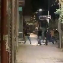 Robo de bicicletas en Santiago Centro termina con brutal pelea