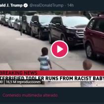 Twitter etiqueta un video compartido por Trump como