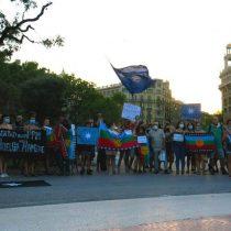 Colectividades migrantes en Barcelona organizaron actividad solidaria por situación de presos mapuche en huelga de hambre
