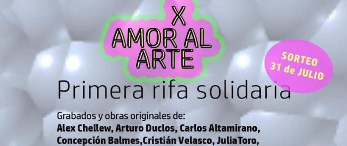 """Últimos número de rifa solidaria """"X amor al Arte"""" de Plataforma de Artes Visuales (PAV)"""