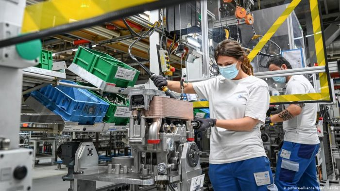 Caída histórica de 10,1% del PIB en Alemania en el segundo trimestre