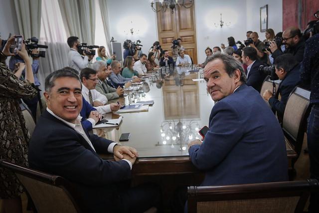 Ministros Desbordes y Allamand sostienen reunión para coordinar temas de interés de sus respectivas carteras