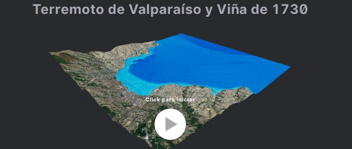 Investigadores crean simulación 3D que muestra cómo un megasismo y tsunami impactaría en la bahía de Valparaíso