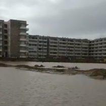 Precipitaciones inundaron zona residencial construida sobre Humedal Los Molles