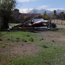 Helicóptero que cayó en estacionamiento del Hospital Roberto del Río resultó con su piloto como único herido