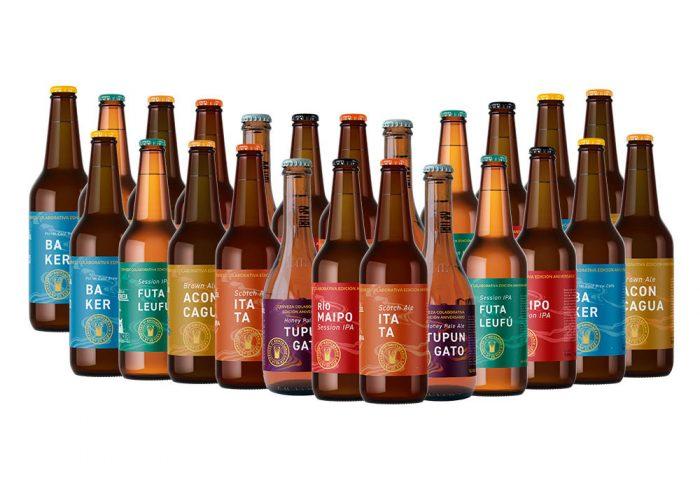 Emprendedores nacionales se unieron para lanzar cervezas de edición limitada con nombres de ríos chilenos