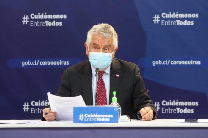 Reporte del Minsal ministro Paris destacó baja de 31% de casos confirmados de Covid-19 en las últimas dos semanas