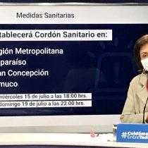 Establecen cordón sanitario en Región Metropolitana, Valparaíso, Gran Concepción y Temuco por feriado del jueves