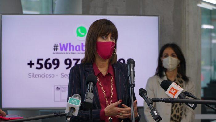 A dos meses de su lanzamiento: cerca de 8 mil personas han utilizado el Whatsapp del MinMujer por temas de violencia intrafamiliar