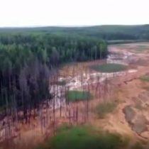 Fuerte impacto para la naturaleza: mina de cobre abandonada provoca gran derrame de químicos en río ruso