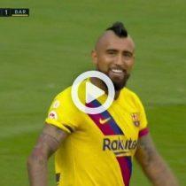 Arturo Vidal abrió la cuenta con golazo y puso el 1 a 0 del Barcelona sobre el Valladolid