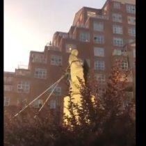 Derriban estatua de Cristóbal Colón en nueva jornada de protestas en Estados Unidos